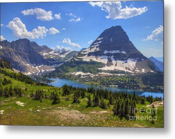 Hidden Lake And Bearhat Mountain Metal Print
