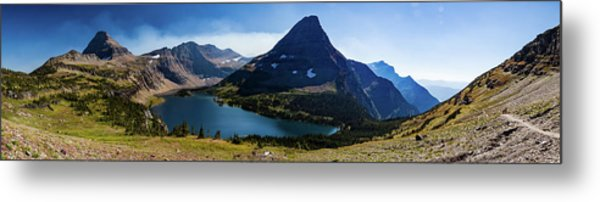 Metal Print featuring the photograph Hidden Lake Panorama At Glacier National Park by Lon Dittrick