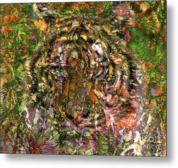 Hidden Tiger Metal Print by Chuck Brittenham
