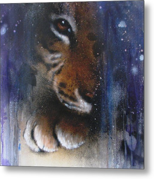Hidden Tiger Metal Print
