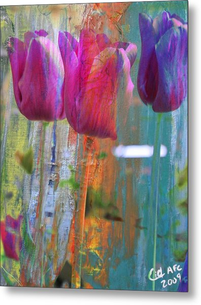 Hidden Tulips Metal Print by  Cid