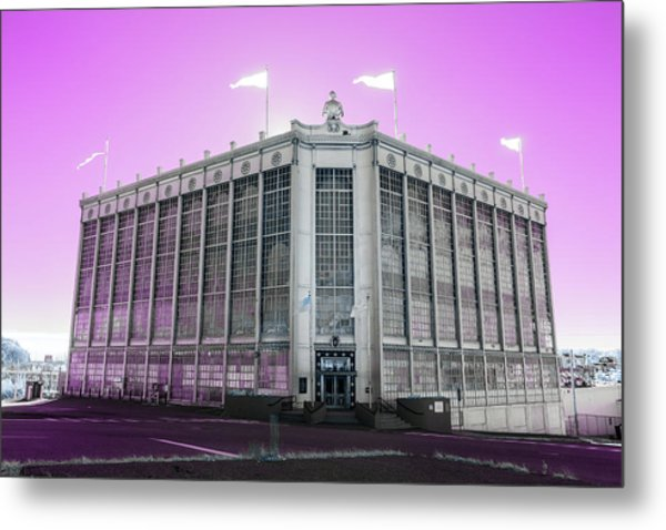 Higgins Armory In Infrared Metal Print