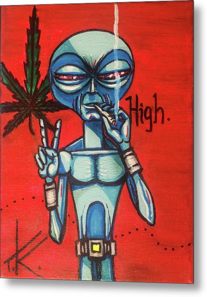 High Alien Metal Print