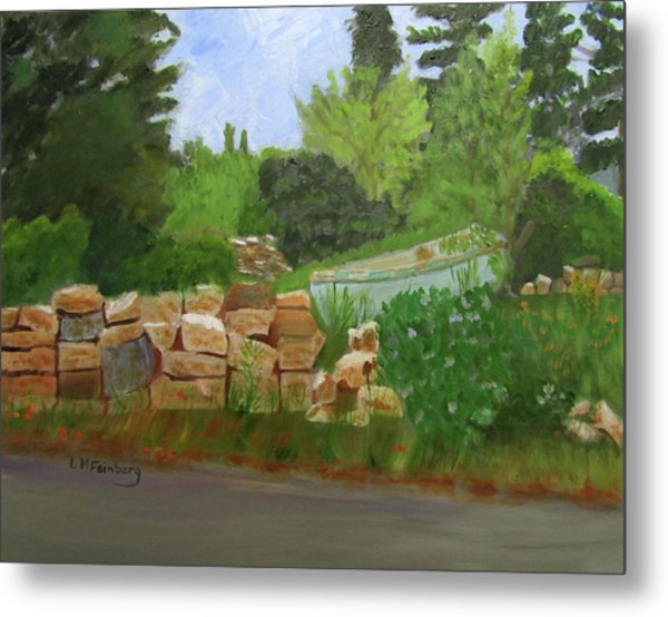 Metal Print featuring the painting High And Dry by Linda Feinberg