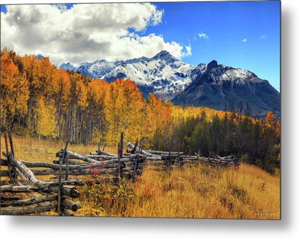 High County Ablaze Metal Print