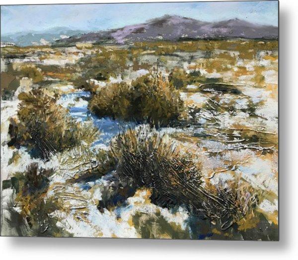 High Desert Winter Metal Print