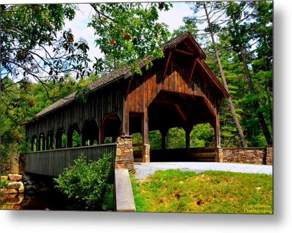 Metal Print featuring the photograph High Falls Covered Bridge by Lisa Wooten