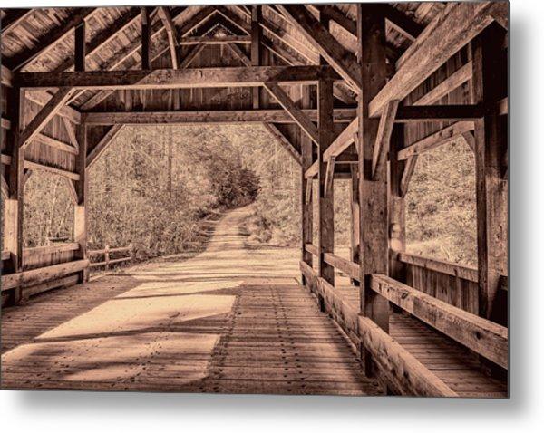 High Falls Covered Bridge Metal Print