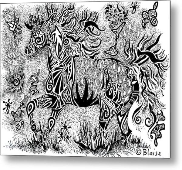 High Horse Metal Print