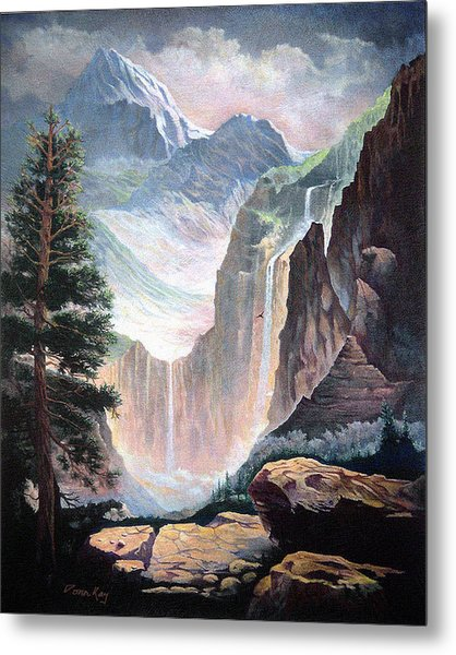 High In The Rocky Mountains Metal Print