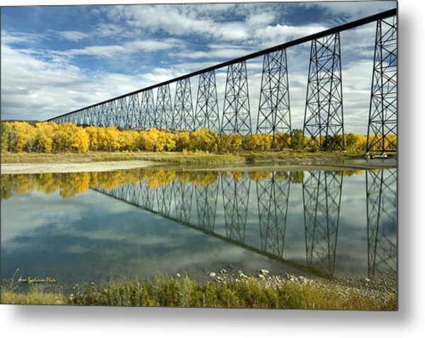 High Level Bridge In Lethbridge Metal Print