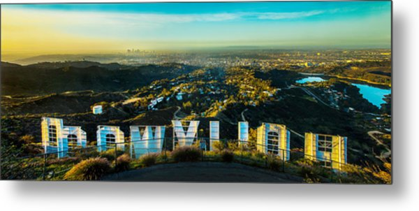 High On Hollywood Metal Print