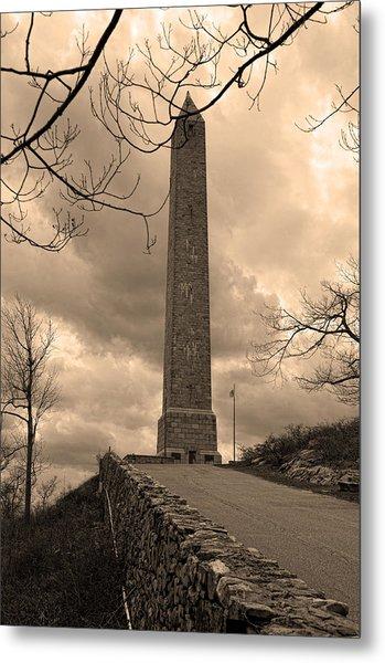 High Point Obelisk In Sepia  Metal Print