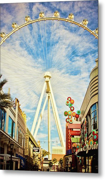 High Roller Wheel, Las Vegas Metal Print