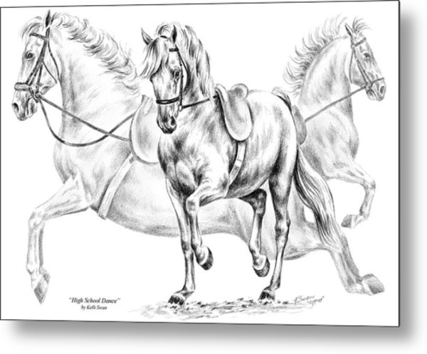 High School Dance - Lipizzan Horse Print Metal Print