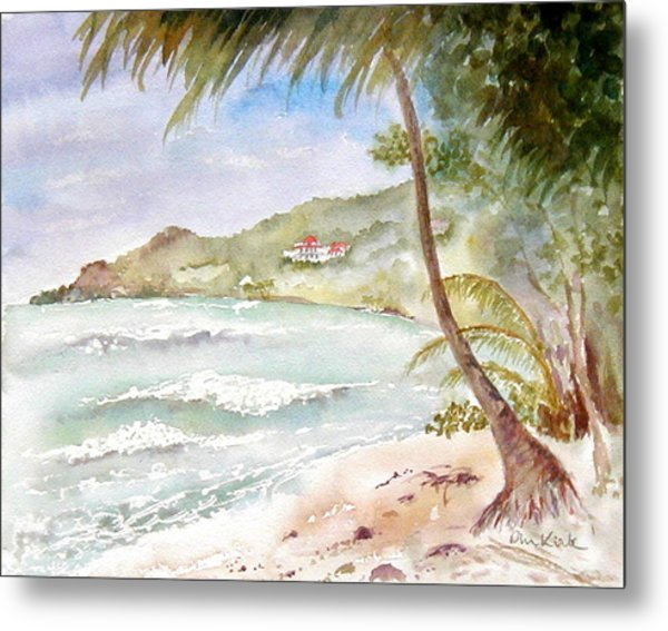 High Surf At Brewers Metal Print