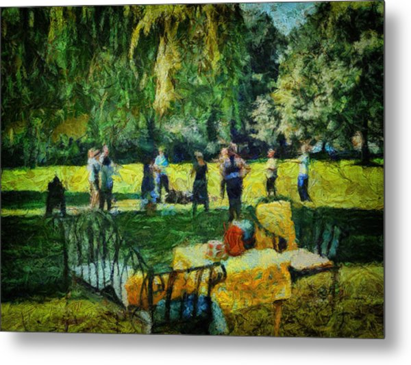 High Tea Tai Chi Metal Print