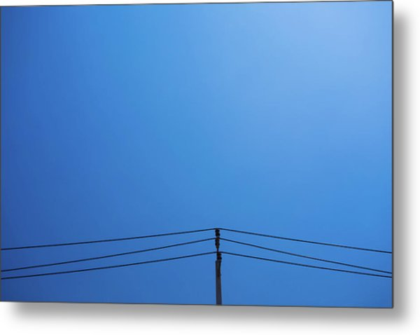 High Voltage Power, Electric Pose Metal Print