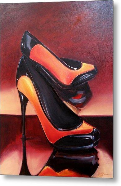 Highered Heels Metal Print by Yvonne Dagger