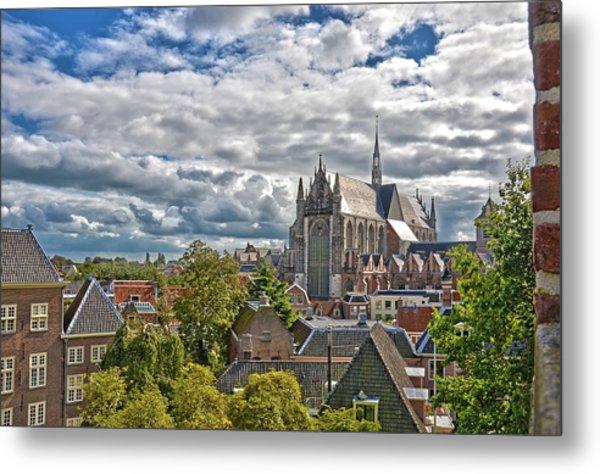 Highland Church Seen From Leiden Castle Metal Print