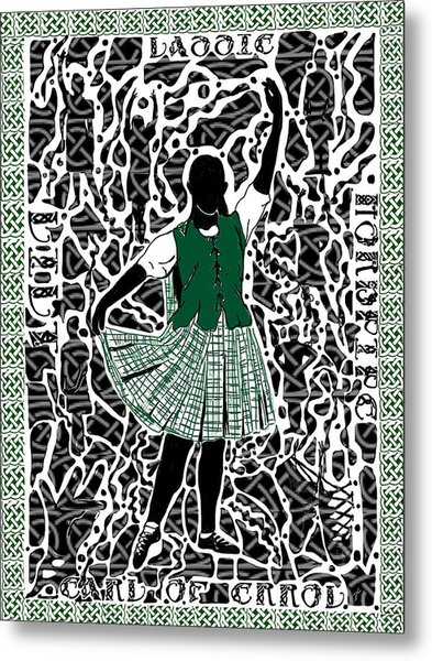 Metal Print featuring the digital art Highland Dancing by Darren Cannell