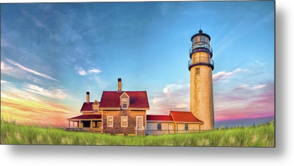 Metal Print featuring the painting Highland Lighthouse by Christopher Arndt