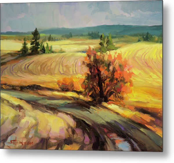 Highland Road Metal Print