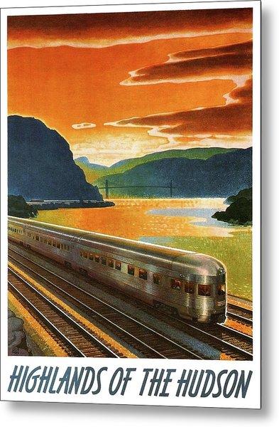 Highlands Of Hudson, Railway, Train Metal Print