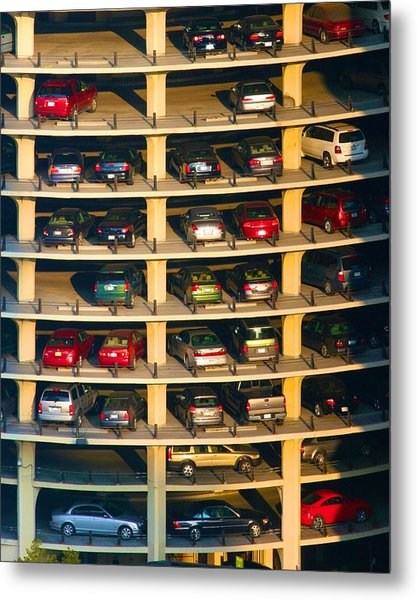 Highrise Carpark Metal Print