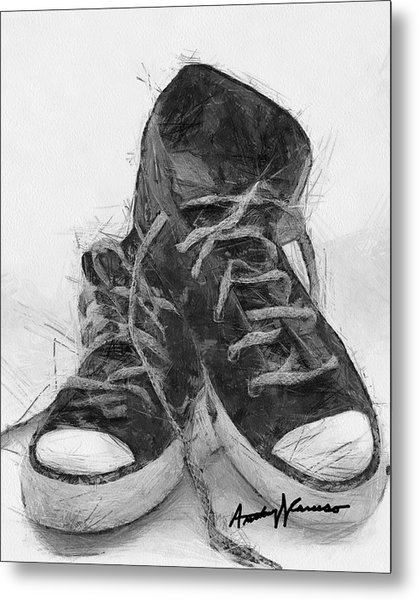 Hightops Metal Print by Anthony Caruso