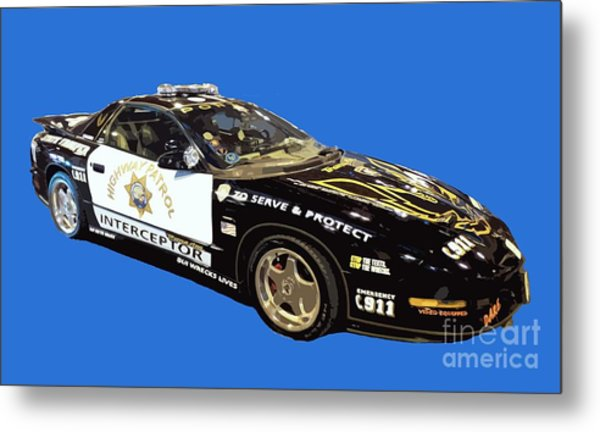 Highway Interceptor Art Metal Print