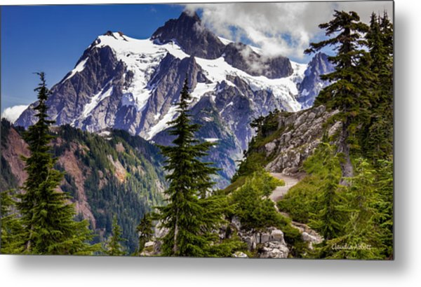 Hike To See Mt. Baker Metal Print