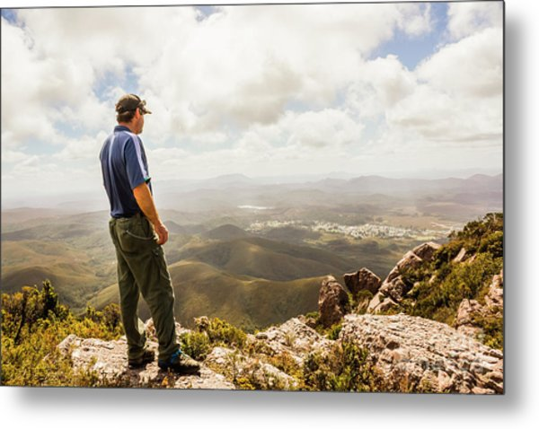 Hiking Australia Metal Print