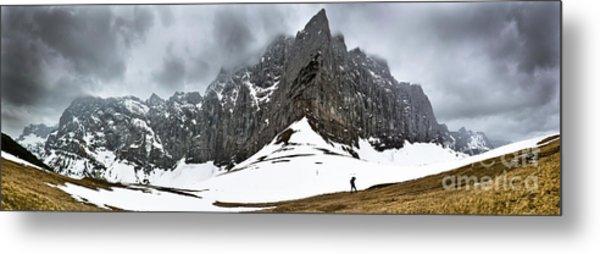 Hiking In The Alps Metal Print