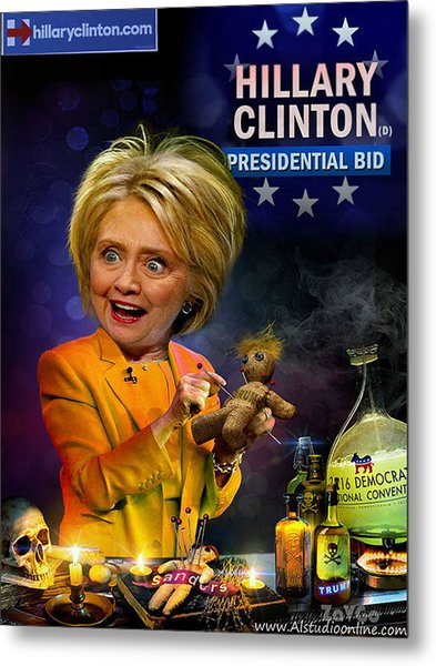 Hillary Clinton. President Program 2016 Metal Print by Andrey Zavgorodniy