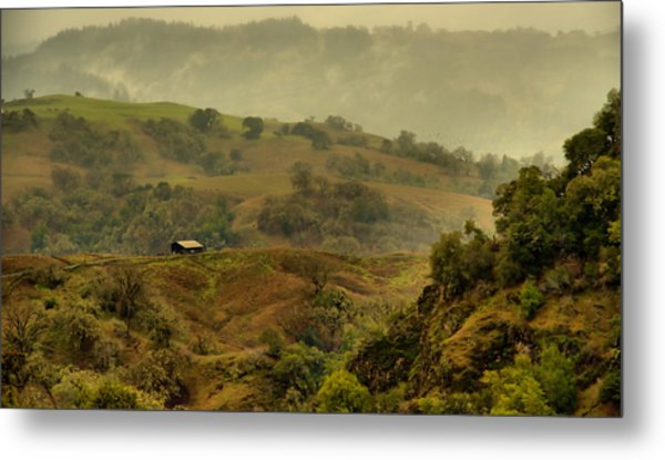 Hills Above Anderson Valley Metal Print