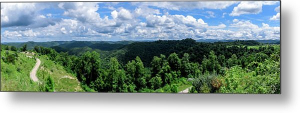Hills And Clouds Metal Print