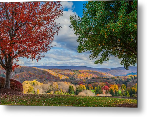 Hills Of Autumn Metal Print