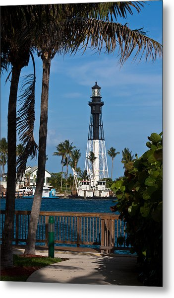 Hillsboro Inlet Lighthouse And Park Metal Print