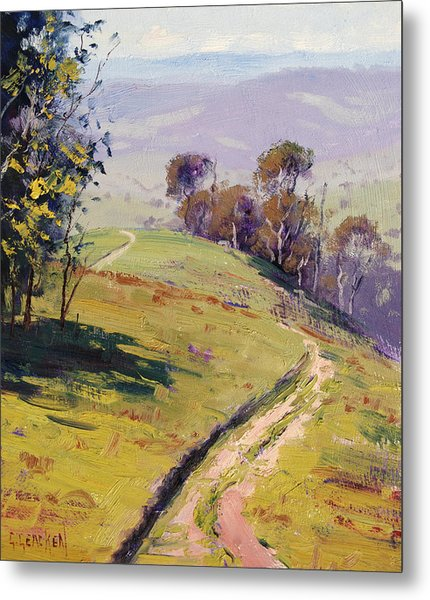 Hilly Landscape Lithgow Metal Print