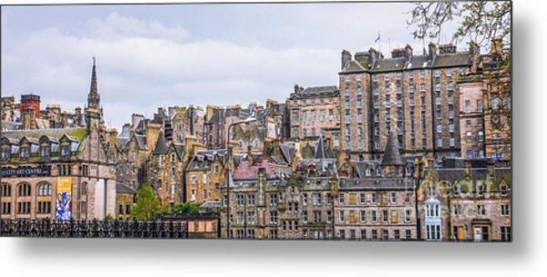 Hilly Skyline Of Edinburgh Metal Print