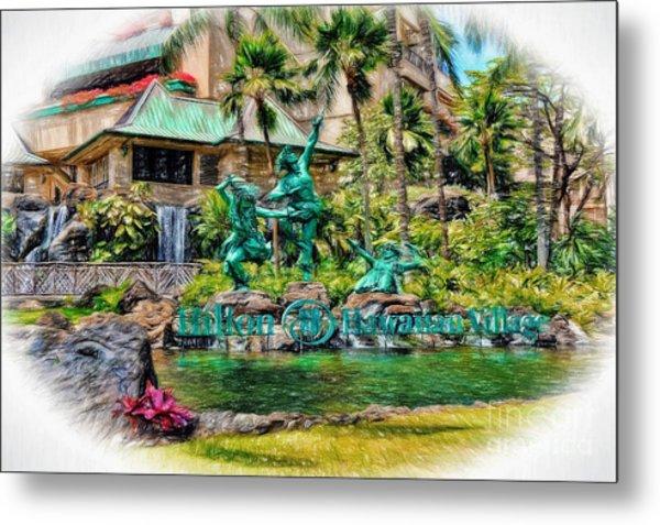 Hilton Hawaiian Village Waikiki Beach Resort Metal Print