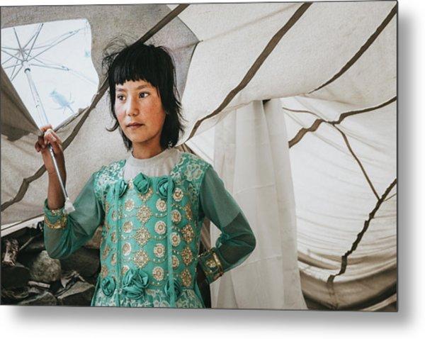 Himalayan Girl Metal Print