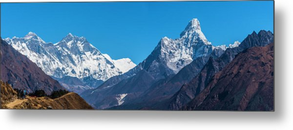 Metal Print featuring the photograph Himalayan Peaks En Route To Base Camp by Owen Weber