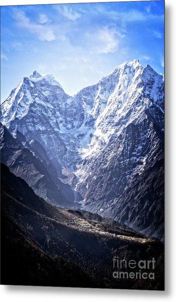 Himalayan Village Metal Print