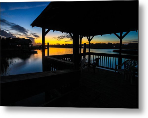 Hinson House Dock Verison Two Metal Print by Bill Cantey