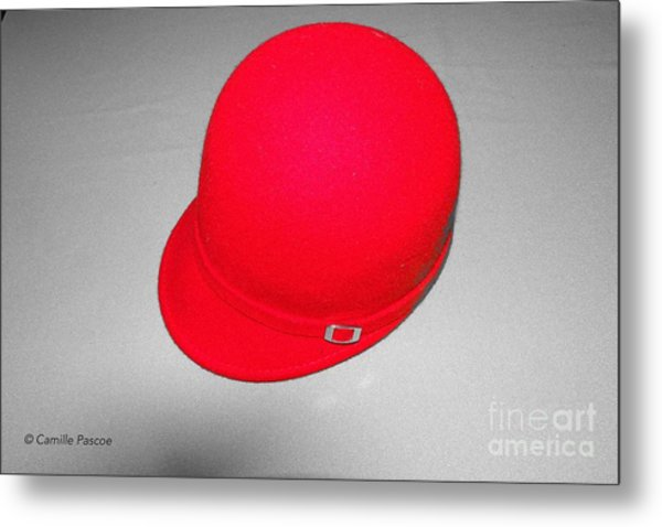 Hints Of Red - Hat Metal Print