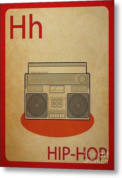 Hip Hop Vintage Flashcard Metal Print by Mynameisjz JZ