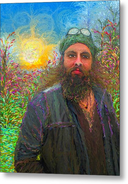Hippie Mike Metal Print