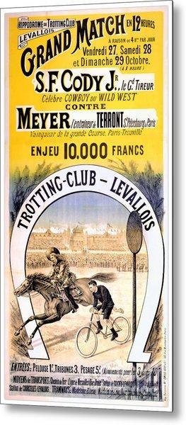 Hippodrome Du Trotting Club Levallois Metal Print